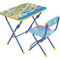 Набор детской мебели никки. правила дорожного движения складной: стол, сту