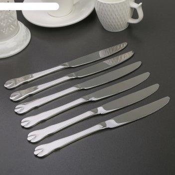 Набор ножей столовых «капля», h=23 см, 6 шт