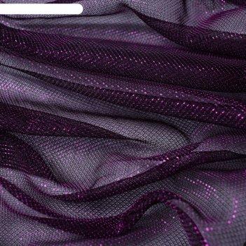 Трикотаж плательный, сетка мягкая, ширина 150 см, бордовый