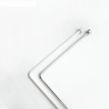 Штанга угловая для шторы в ванную 80х170, белый