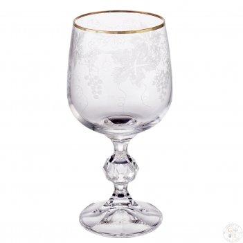 Набор бокалов для вина crystalex bohemia v-d 230мл (6 шт)