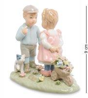 Cms-12/35 статуэтка мальчик и девочка дружба (pavone)