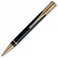 Шариковая ручка parker duofold .черная с позолоченными 23к д
