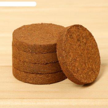 Таблетки кокосовые d=60 мм, (набор 5 шт), greengo
