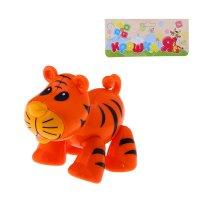 Забавное животное тигрёнок с подвижными лапами, головой, хвостиком