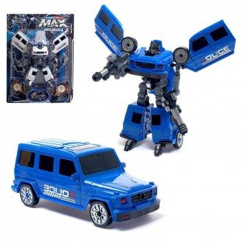 Робот полицейский гелик, трансформируется, цвета микс