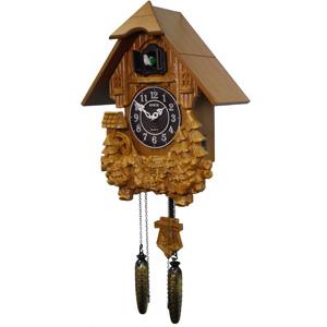 Настенные деревянные часы с кукушкой sinix 612c