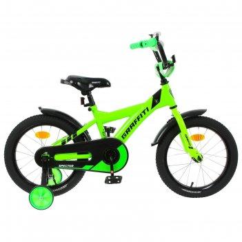 Велосипед 16 graffiti spector, цвет неоновый зелёный