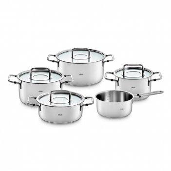 Набор посуды из 5-ти предметов, материал: нержавеющая сталь, серия bonn, f