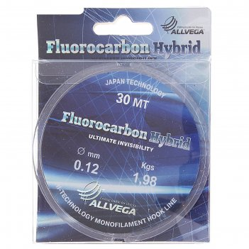 Леска allvega fluorocarbon hybrid 0.12 30м