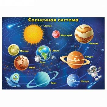 Плакат обучающий а4 солнечная система