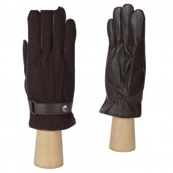 Перчатки мужские, натуральная кожа/шерсть (размер 9.5) коричневый