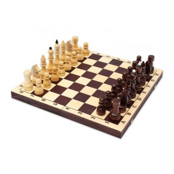 Шахматы турнирные лак с темной доской