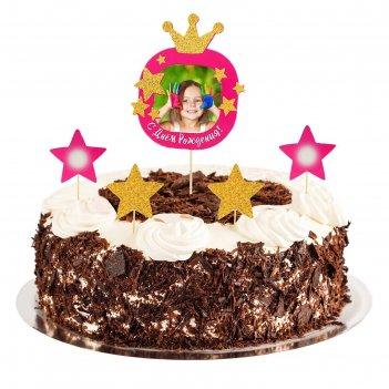 Топперы в торт принцесса с фоторамкой