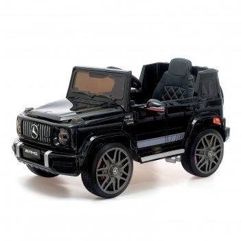 Электромобиль mercedes-benz g63 amg, окраска глянец черный, eva колеса, ко