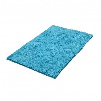 Коврик для ванной комнаты soft, голубой, 55x85 см