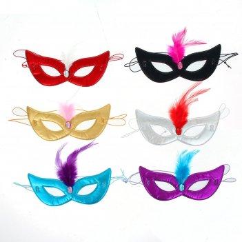 Карнавальная маска загадка с камнем, цвета микс