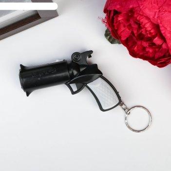 Фонарик свет на кольце пистолет светит m-56 микс 5,5х7,5х2 см