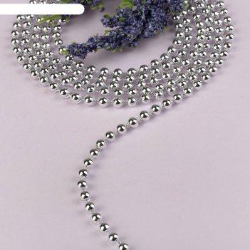 Стразы на нитях, круглые, 4 мм, 9±1 м, цвет серебряный