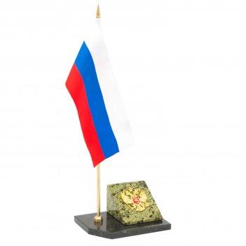 Флагшток с гербом россии камень змеевик