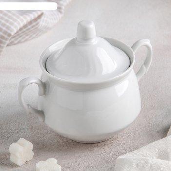 Сахарница 450 мл кирмаш, цвет белый