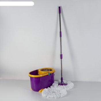 Набор для уборки: ведро с педальным отжимом с металлической центрифугой 12