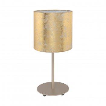 Настольная лампа viserbella 60вт e27 шампань