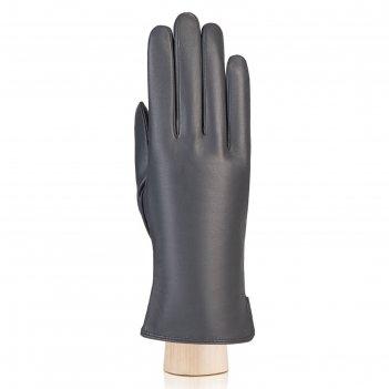 Перчатки женские, размер 6.5, цвет серый