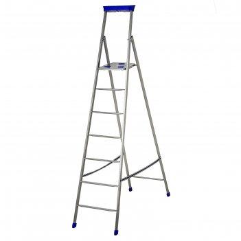 Стремянка металлическая, 7 ступеней, высота до рабочей площадки 150,5 см