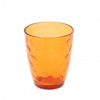 Стакан стеклянный 400 мл венский вальс, оранжевый