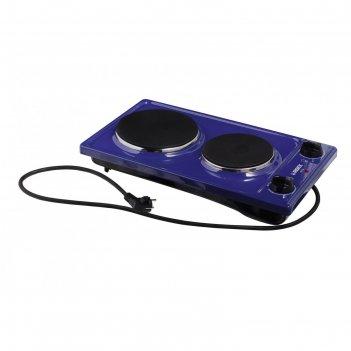 Плита reex cte- 32 bl, 2200 вт, электрическая, 2 конфорки, синий