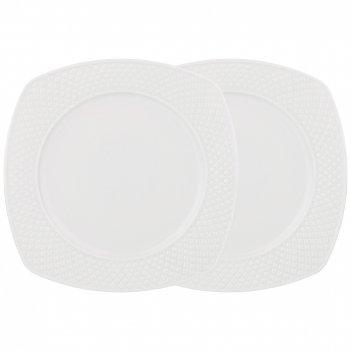 Набор из 2 тарелок обеденных диаманд квадрат 24,5 см (кор=16наб.)