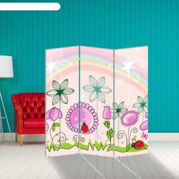 Ширма цветочная полянка, 160 x 150 см