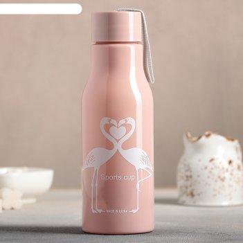 Бутылка фламинго 6,5х19,5 см, цвет микс