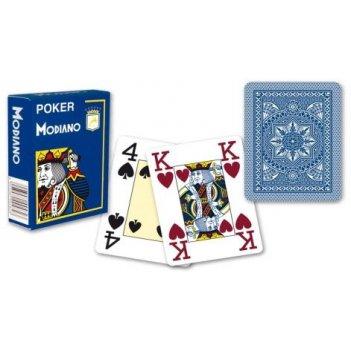 "Карты для покера ""modiano poker"" 100% пластик, италия, с"