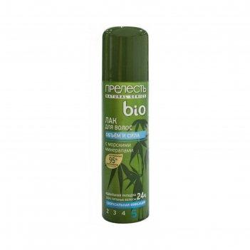 Лак для волос прелесть bio объем и сила, сверхсильная фиксация, 210 мл