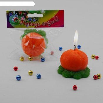 Свеча мандаринка мини 15134