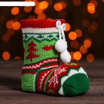 Конфетница носочек с бомбошками, вместимость 180 грамм, цвета микс