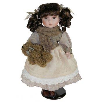 Кукла коллекционная яна, фарфор 41см