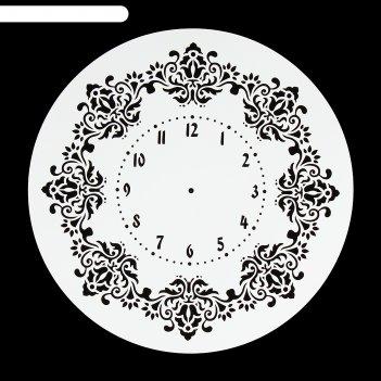 Трафарет пластик винтажные часы d=25 см