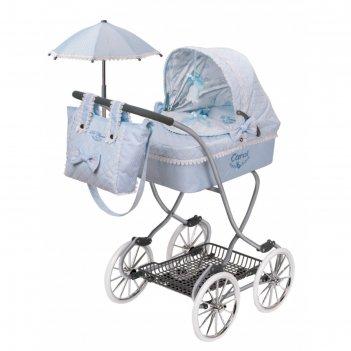 Коляска с сумкой и зонтиком для куклы, серия «кэрол», 90 см