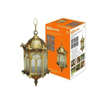 Светильник садово-парковый tdm ампир , е27, 60 вт, подвесной, цвет бронза