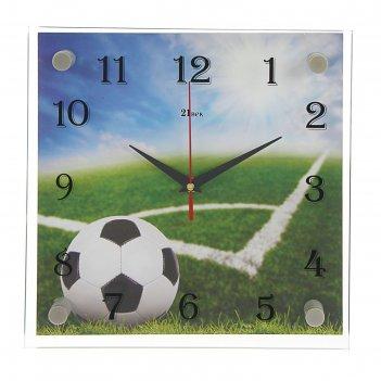 Часы настенные квадратные мяч 25х25 см