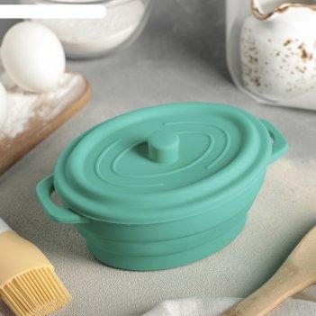 Кокотница-форма для запекания 17х11,5х7 см юзи складная, цвета микс