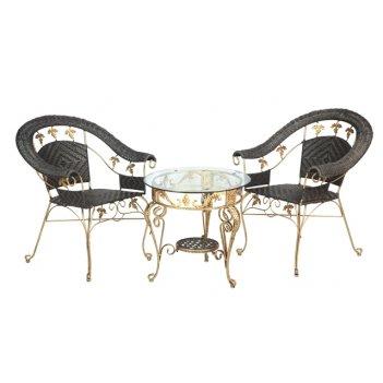 Комплект мебели из искусственного ротанга виноград