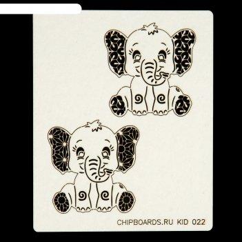 Чипборд слоники картон