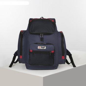 Рюкзак тур агир 1, 35л, 30*20*45, отд на молнии, 3 н/кармана, синий