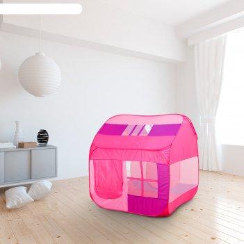 Палатка детская «домик с окном», розовый, 140 x 125 x 125 см