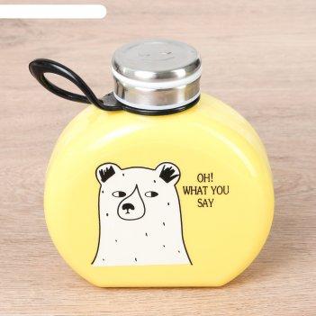 Бутылка 300 мл медведи, цвета микс