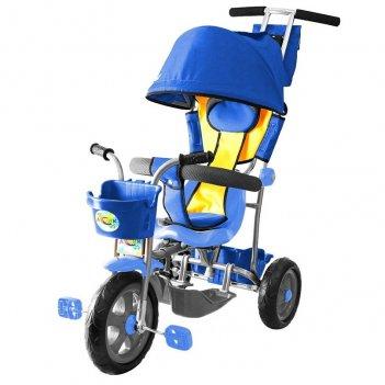 Л001 3-х колесный велосипед galaxy лучик с капюшоном синий
